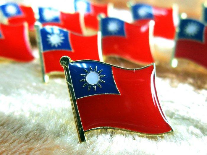 國旗徽章,中華民國,國民黨黨徽。各一枚