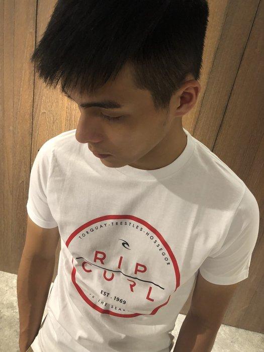 美國百分百【全新真品】RIP CURL 短袖 T恤 T-shirt Logo 衝浪 街頭 潮流 白色 S號 J004
