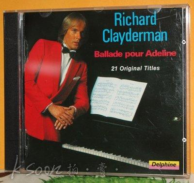 Richard Clayderman-Ballade pour Adeline,台版,無IFPI,DECCA/福茂唱片
