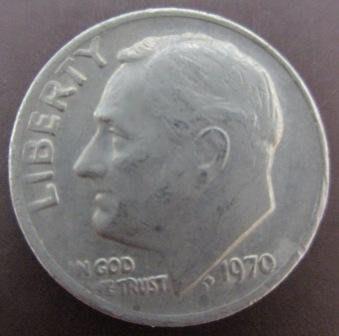 ~AMERICA 美國 ONE DIME 1DIME 10分 羅斯福 1970 1977 1978年 銀幣/ 錢幣三枚~ 台北市