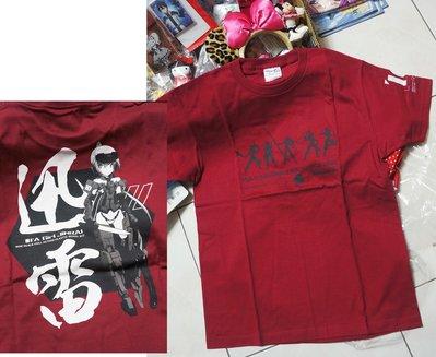 武器少女 日本製上衣 酒紅 T恤 L尺寸 骨裝機娘 迅雷  FRAME ARMS GIRL  jinrai 全新品