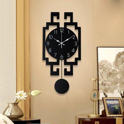 掛鐘 鬧鐘 墻壁鐘 裝飾鐘錶中國風掛鐘簡約客廳家用現代新中式表時尚個性掛墻裝飾大氣創意鐘