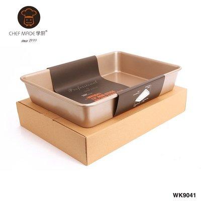 Chefmade學廚13吋不沾加深長方形蛋糕烤盤 13寸加深長方形蛋糕模枕頭蛋糕烤模碳鋼烤盤烘焙模具WK9041烘培工具 高雄市