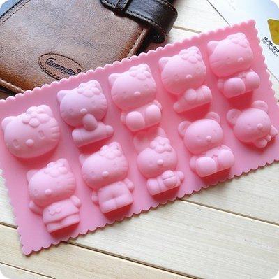 矽膠蛋糕模具/手工皂模 /巧克力模具 /Hello kitty 手工皂模