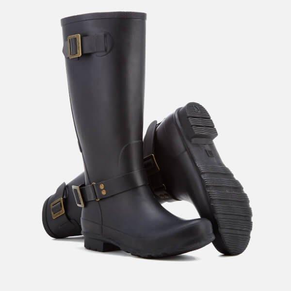 現貨 附鞋盒 英國 JOULES Biker WELLIES 全黑 霧面 拉鍊長筒 雨靴 雨鞋 高筒 Hunter