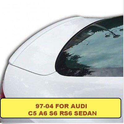 97~04 FOR AUDI C5 A6 S6 RS6 SEDAN擾流M3小尾翼素材
