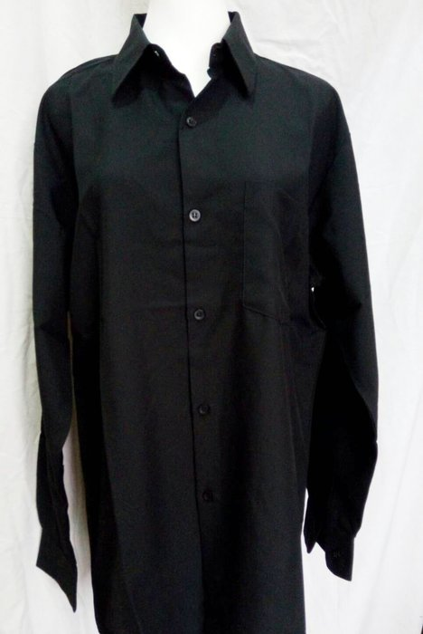 ☆°萊亞生活館 ° 黑色襯衫【A553男款-長袖】上班族黑色襯衫-咖啡館制服-外場服務人員襯衫