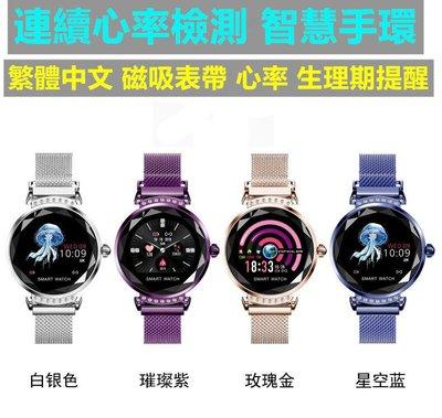 【連續心率檢測 智慧手環】IP67防水 女性生理提醒 磁吸錶帶 心率 睡眠 運動 手環 手錶 智慧手錶 運動手環