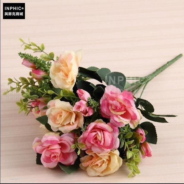 INPHIC-歐式模擬花藝套裝客廳裝飾假花家居飾品花瓶插花擺放花卉絹花-C款_S01870C