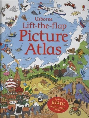 Usborne Lift-the-flap Picture Atlas Art Size Fraction兒童英文翻翻書