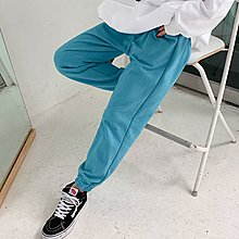 i-Mini 正韓|背後口袋小標籤鬆緊腰圍縮口褲|3色‧ 韓國連線‧代購‧空運【02172819LY】