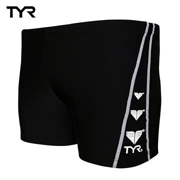 ~有氧小舖~美國品牌 TYR 男用四角黑色訓練款泳褲Logo Boxer