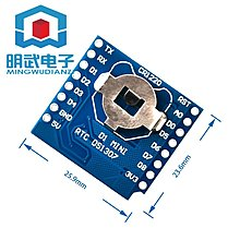 RTC DS1307 (Real Time Clock) + battery - Shield for WeMos D1明武電子