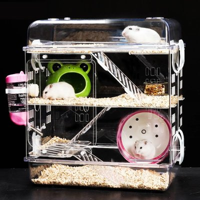 倉鼠籠子超大別墅夢幻大城堡倉鼠用品豪華套裝亞克力透明倉鼠籠
