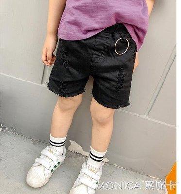 童裝韓版兒童沙灘褲男童破洞短褲中大童熱褲子