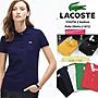 鱷魚T恤  lacoste 素面短袖POLO衫 T恤男女情侶款  純棉網眼 短T 工裝 兩件免運費