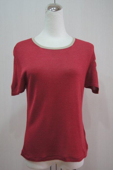 CIVIDINI  紅色短袖針衣       特價 3800
