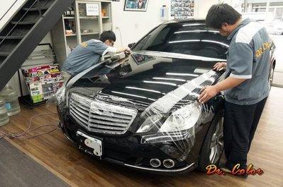 Dr. Color 玩色專業汽車包膜 M-Benz E220 細紋自體修復透明犀牛皮_引擎蓋 / 後蓋局部