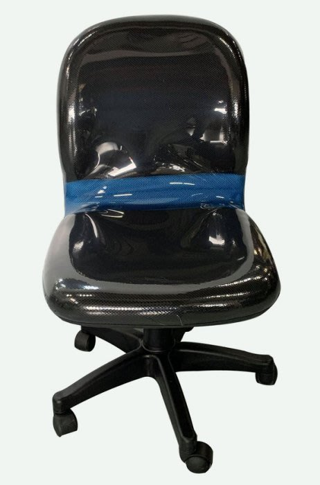 【樂居二手家具】全新 二手家具 家電買賣 EA1501Fj*全新黑藍透氣OA辦公椅* 洽談椅/等待椅/會議椅/電腦椅/