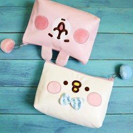 【UNIPRO】Kanahei 卡娜赫拉的小動物 粉紅兔兔 小雞P助 萌萌 頭型 化妝包 筆袋 收納袋 三貝多正版授權