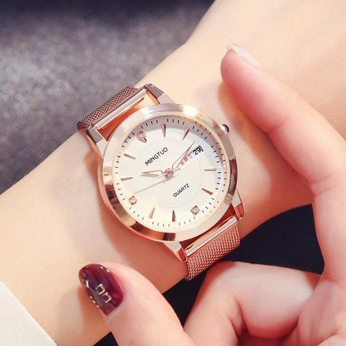 YEAHSHOP 新款時尚潮流網帶手錶女簡約休閒Y185