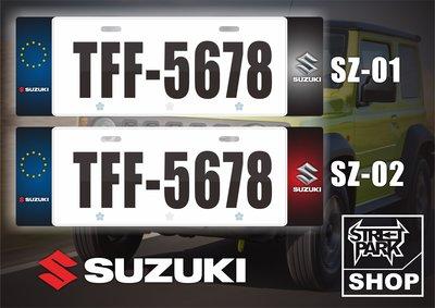 【STREET PARK】訂製 歐盟 車牌裝飾 Suzuki Jimny 【原價780$ 特價 580$】