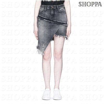 【SHOPPA】TORTOISE 水洗刷色 不規則 牛仔裙 灰色  18春夏