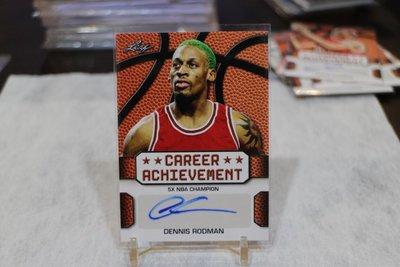 公牛隊~Dennis Rodman 五次總冠軍/Career Achievement 2016 Leaf 簽名 DR2