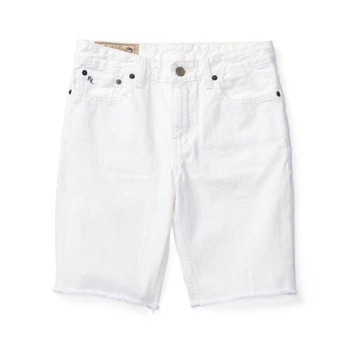 美國百分百【Ralph Lauren】牛仔短褲 休閒 五分褲 褲子 Polo 牛仔褲 RL 小馬 白色 29腰 I150