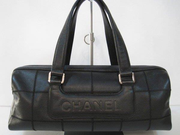 *旺角名店* Chanel 黑色荔枝皮 手提包 側背包 格紋 maxi coco 2.55 jumbo [070703]