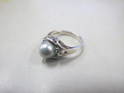 二手舖 NO.3041 仿珍珠造型戒指 首飾飾品
