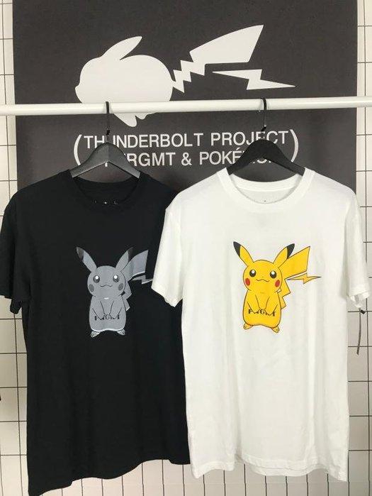 日本Fragment Design 藤原浩第三季皮卡丘公仔聯名款黑色白色短袖T恤Tee
