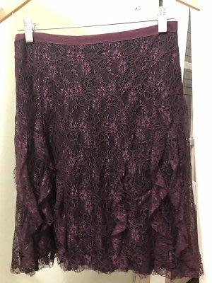 歐洲大牌KOOKAI高質感浪漫優雅紫色蕾絲短裙賠本特價出清
