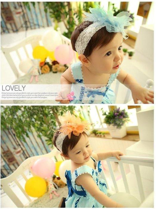 =寵喵百貨= 寶寶拍照必備 大花花蕾絲髮帶 大花朵蕾絲髮帶 鳥巢造型髮帶 寶寶髮帶 公主頭飾 大花蕾絲嬰兒髮帶