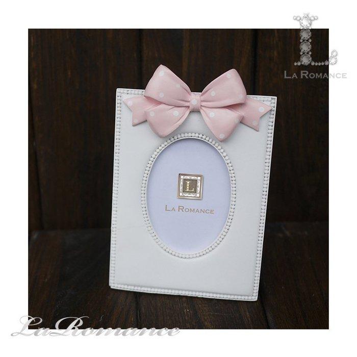 【義大利 Cupido & Company 特惠系列】 粉蝴蝶結白色2.5x3.5相框 / 童趣 / 生日 / 紀念日