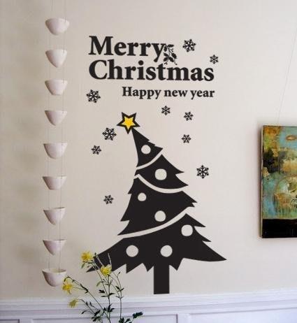 小妮子的家@聖誕星星樹壁貼/牆貼/玻璃貼/磁磚貼/汽車貼/家具貼