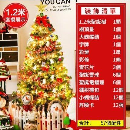 台灣現貨24小時出貨可開發票 聖誕樹裝飾品1.2米聖誕樹擺件迷你聖誕樹聖誕節聖誕樹 免運 急速出貨