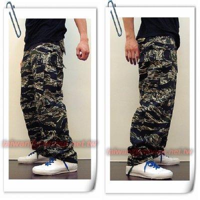 《甲補庫》~叢林虎斑迷彩多口袋特戰長褲(美規版)~~多口袋小迷彩工作褲、滑板褲