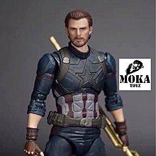 (等待下一次預訂) SHF 鬍鬚美國隊長 美隊頭雕CA Captain America 翹臀隊長 1/12 6吋用 無限之戰 閃回出品