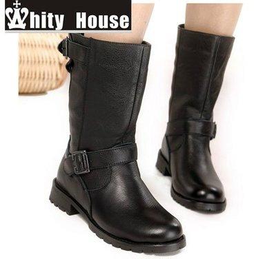 =WHITY=韓國FUPA品牌 韓國製 賣翻了 全真皮中跟短靴EV正品   S3KZ372