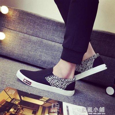 夏季帆布鞋男一腳蹬懶人鞋子低幫學生潮鞋日常休閒韓版透氣平底鞋
