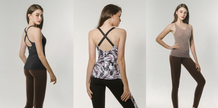 【艾利洋行】 ( TrueFoxy ) Crossed Round Neck Yoga Top 系列瑜珈上衣