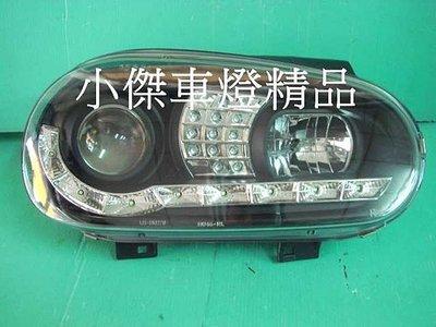 》傑暘國際車身部品《vw 福斯golf 4代 golf-98-03年 golf4 R8日行燈 魚眼大燈+led方向燈