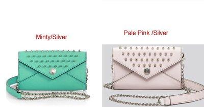 美國名牌Rebecca Minkoff Mini Wallet專櫃款防刮鉚釘手機信用卡斜背小包現貨在美特價$2980含郵