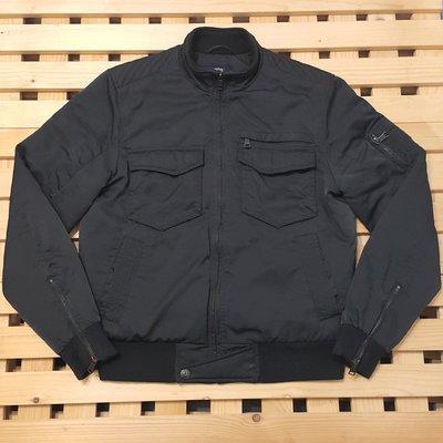 99元競標 男款 HANG TEN 黑色軍風立領騎士鋪棉外套 S號