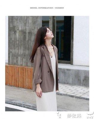 月下影新秋夏季輕薄chic風小西裝外套女短款西服空調衫小香風休閒