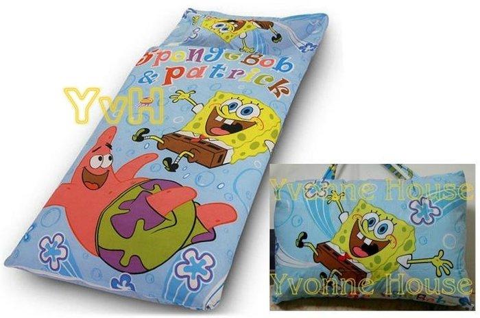 YvH  卡通 Sleepbag 派大星海綿寶寶睡袋 藍色幼稚園兒童睡袋