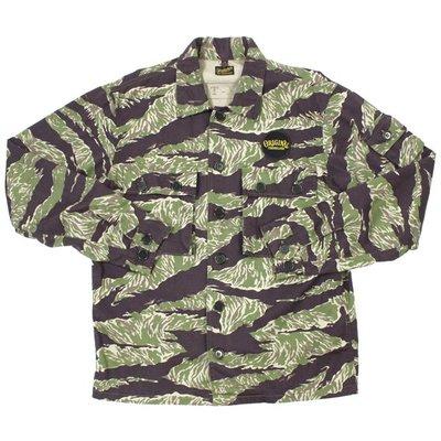✞ASENSERI✞ TENDERLOIN T-BAMBOO SHT 經典貼布虎紋迷彩襯衫 S 號