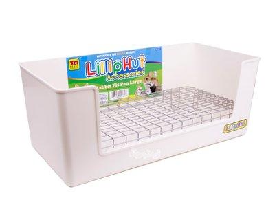 ☆童話寵物☆日本WILD SANKO可固定豪華加大長方型兔子便盆 #545 白色   Lilliphut