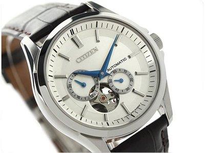 CITIZEN 手錶 38mm 機械錶 皮帶 縷空 藍寶石 日本製 男錶 NP1010-01A 台北市